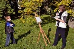 Het portret van de herfst Stock Afbeelding