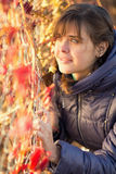 Het portret van de herfst van een mooie vrouw Royalty-vrije Stock Afbeelding