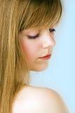 Het portret van de het meisjesclose-up van het kuuroord Stock Foto