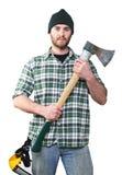 Het portret van de houthakker stock foto's