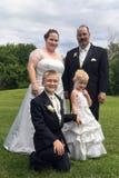 Het Portret van de huwelijksfamilie Royalty-vrije Stock Afbeeldingen