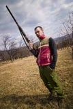 Het portret van de jager Stock Foto's
