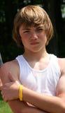 Het Portret van de Jongen van de tiener Royalty-vrije Stock Foto