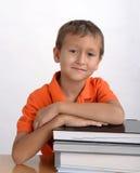 Het portret van de jongensstudent Royalty-vrije Stock Afbeeldingen