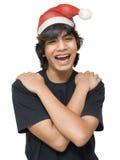 Het portret van de Kerstman van de tiener Stock Afbeeldingen