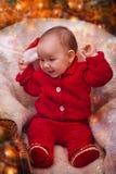 Het portret van de Kerstmisbaby Royalty-vrije Stock Foto