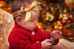 Het portret van de Kerstmisbaby Stock Foto's
