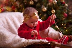 Het portret van de Kerstmisbaby Royalty-vrije Stock Afbeelding