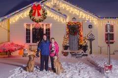 Het Portret van de Kerstmisfamilie Royalty-vrije Stock Foto's
