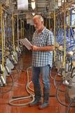 Het portret van de landbouwerskoe Stock Afbeelding