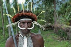 Het Portret van de Leider van dani van Dugum stock foto's