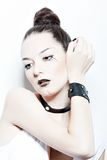 Het portret van de manier van meisje met donkere samenstelling Royalty-vrije Stock Fotografie