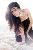 Het portret van de manier van mooi meisje Royalty-vrije Stock Foto