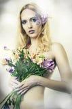 Het portret van de manier van mooie vrouw. Fee Royalty-vrije Stock Foto