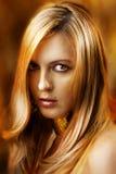 Het portret van de manier van sexy aantrekkingskrachtvrouw Royalty-vrije Stock Foto