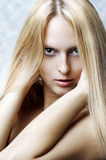 Het portret van de manier van vrouw. Het haar van de gezondheid Royalty-vrije Stock Afbeeldingen