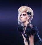 Het portret van de manierkunst van Mooi Vogue-Meisje Stock Afbeeldingen