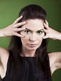 Het portret van de maniervrouw royalty-vrije stock fotografie
