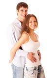 Het portret van de mens en vrouw, het is geïsoleerd. Royalty-vrije Stock Afbeelding