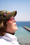 Het portret van de middenleeftijdsvrouw Stock Foto