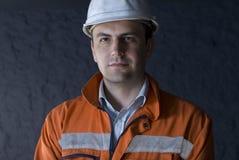 Het portret van de mijnwerker Stock Afbeeldingen