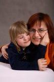 Het Portret van de moeder en van de Dochter Stock Foto's