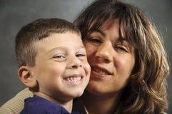 Het Portret van de moeder en van de Zoon Stock Foto