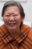 Het portret van de oudere vrouw Stock Foto's