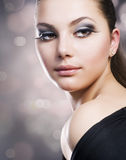 Het Portret van de schoonheid Royalty-vrije Stock Afbeeldingen