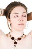 Het portret van de schoonheid Stock Foto's