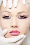 Het portret van de schoonheid, close-up Royalty-vrije Stock Afbeelding