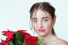 Het portret van de schoonheid van jong meisje E r Stock Fotografie