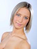 Het portret van de schoonheid van jonge vrouw Royalty-vrije Stock Foto