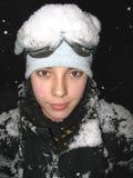 Het portret van de skiër Royalty-vrije Stock Foto's