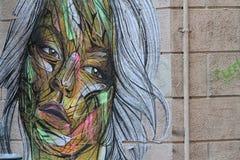 Het portret van de straatkunst Stock Afbeelding