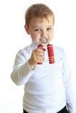 Het portret van de studio van een kleine jongen Royalty-vrije Stock Foto