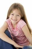 Het Portret van de studio van Glimlachend Meisje royalty-vrije stock foto