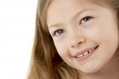 Het Portret van de studio van Glimlachend Meisje royalty-vrije stock foto's