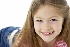 Het Portret van de studio van Glimlachend Meisje stock foto's