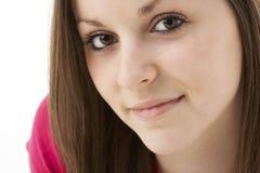 Het Portret van de studio van Glimlachende Tiener Stock Foto