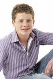 Het Portret van de studio van Glimlachende Tiener Stock Fotografie