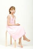 Het portret van de studio van jong mooi meisje royalty-vrije stock foto's