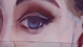 Het portret van de tekeningsgraffiti stock footage