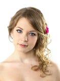 Het Portret van de tiener/Mooie Jonge Vrouw Stock Fotografie