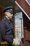 Het portret van de tramspoorbestuurder Stock Afbeelding
