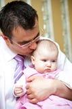 Het portret van de vader en van de dochter Stock Afbeelding