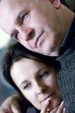 Het portret van de vader en van de dochter Stock Foto