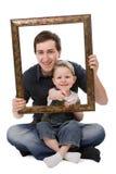 Het portret van de vader en van de zoon Royalty-vrije Stock Afbeelding