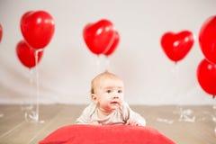 Het portret van de valentijnskaartendag Stock Foto