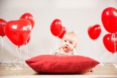 Het portret van de valentijnskaartendag Stock Foto's